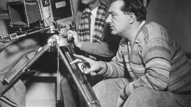 Fritz Lang en el rodaje de La mujer en la Luna, 1929
