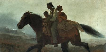 'Los esclavos fugitivos', obra del pintor Eastman Johnson Corbis/VCG via Getty Image)