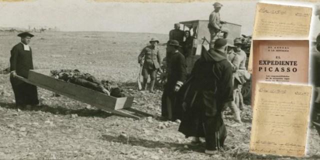 Recogida de cadáveres de españoles en el desastre de Annual, el 22 de julio de 1921, junto al Expediente Picasso - ABC
