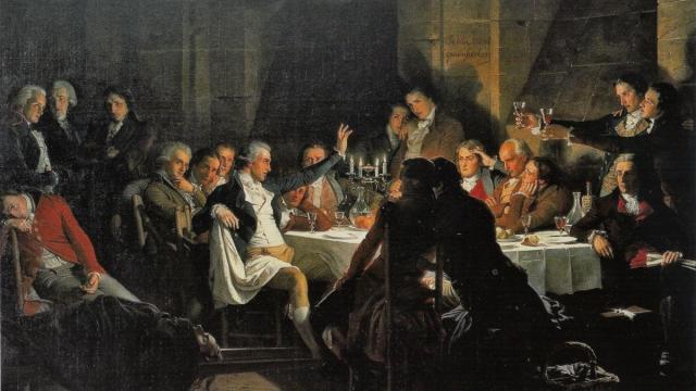 'El último banquete de los girondinos', Henri Félix Emmanuel Philippoteaux, c. 1850