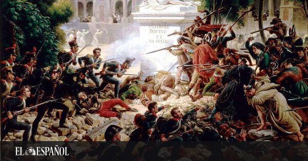 Asalto de las tropas francesas al monasterio de Santa Engracia el 8 de febrero de 1809. Louis-François Lejeune