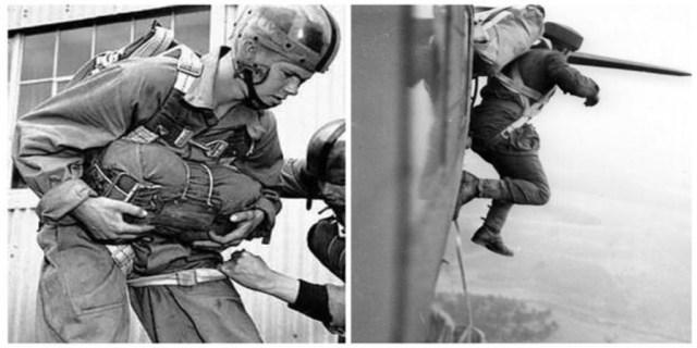 Paracaidistas canadienses durante los entrenamientos para el desembarco de Normandía