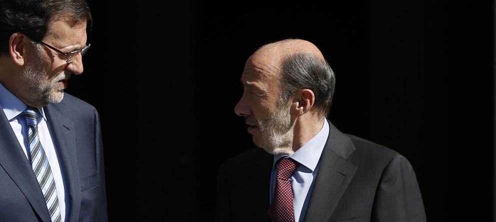 imagen de Rajoy y Rubalcaba en 2011