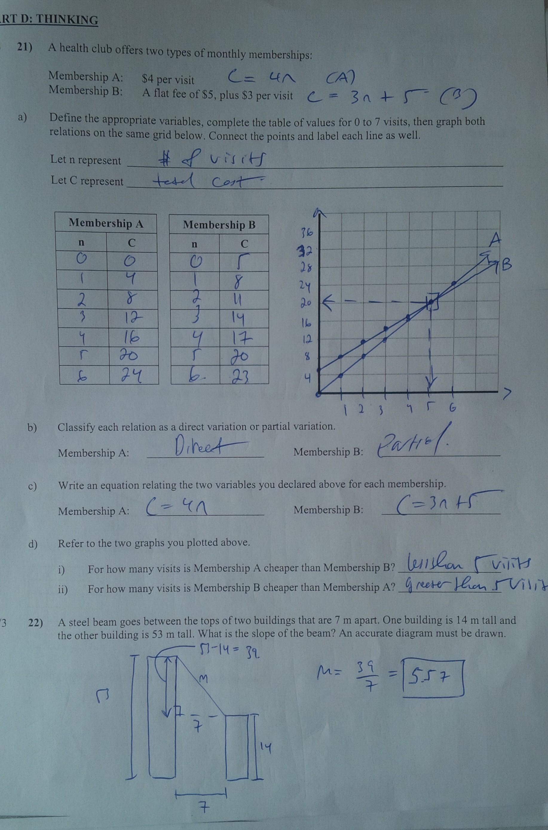 Academic Math Application Of Direct And Partial Variation