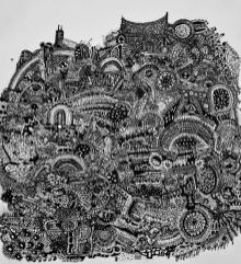 Doodle 20x20cm