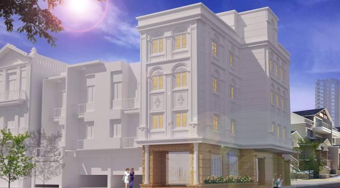 mẫu nhà 2 tầng đẹp xây trọn gói 4,3 triệu /m2