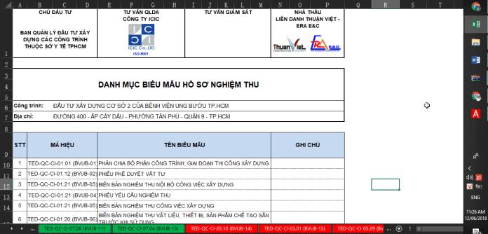 Biểu mẫu biên bản nghiệm thu ICIC