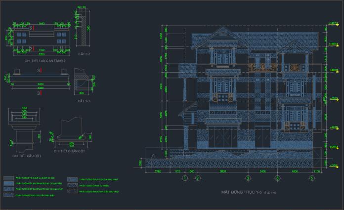 Hồ sơ mẫu biệt thự 4 tầng 8x20m