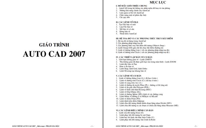 Giáo trình AutoCad 2007 full