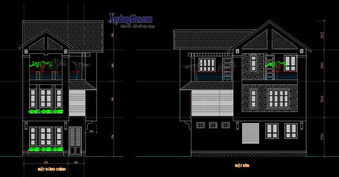 Hồ sơ mẫu nhà phố 3 tầng 6x11m