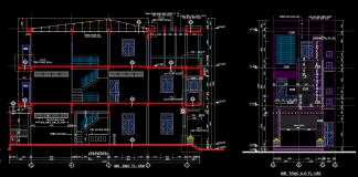 Hồ sơ thiết kế mẫu nhà phố 3 tầng 6x18m