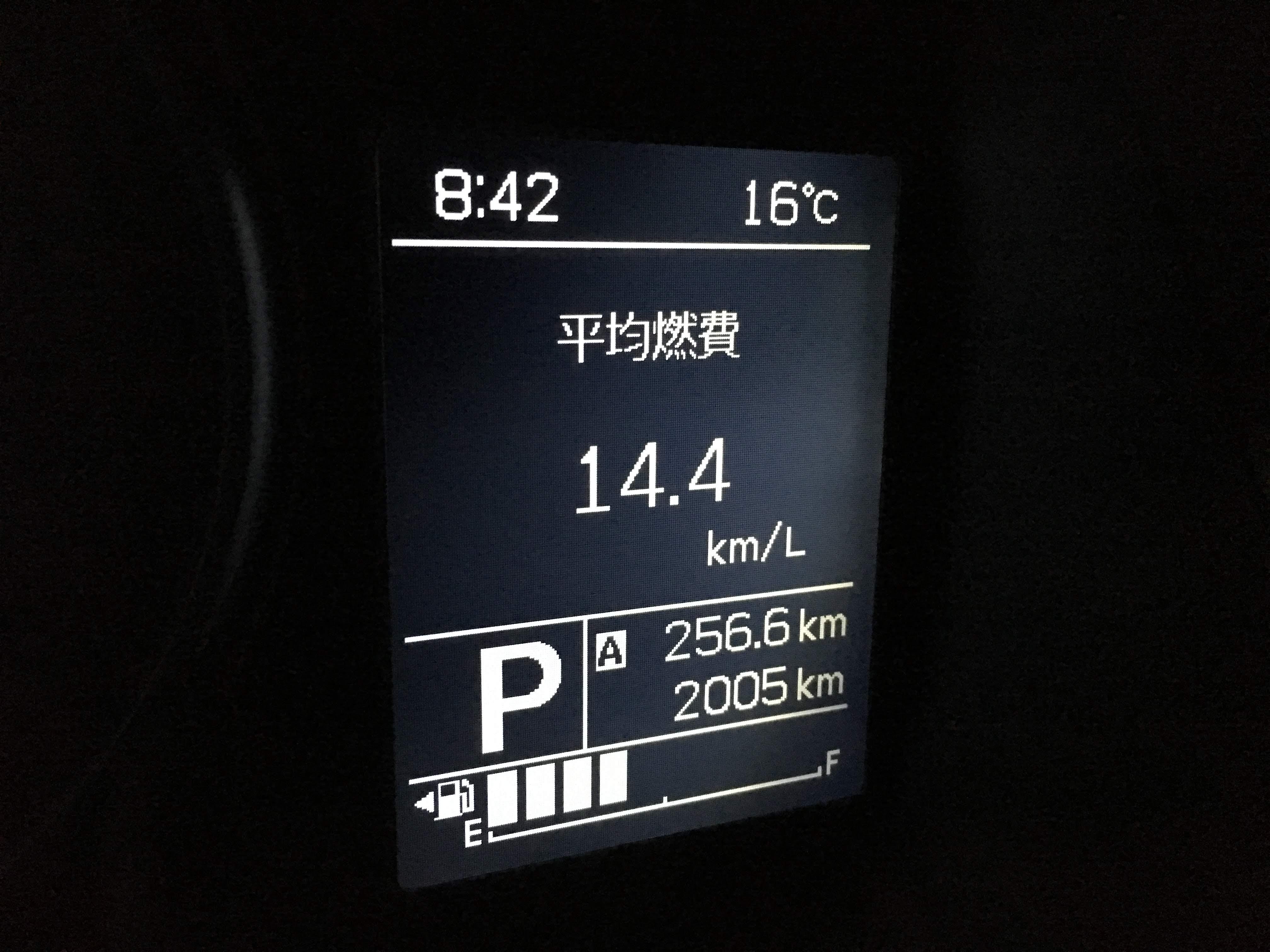 クロスビー(XBEE)の平均燃費表示