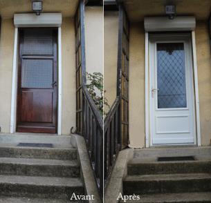 porte d'entrée avant/aprés