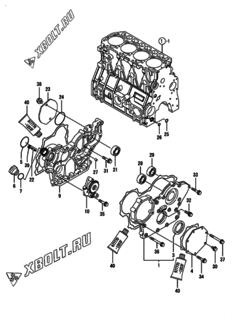Маховик с кожухом и масляным картером двигателя Yanmar