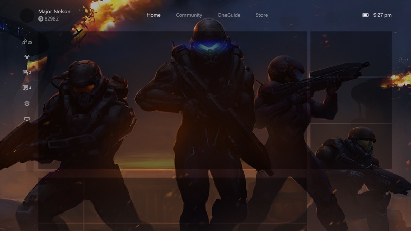 New Xbox One Experience Background PSD Template Xbox