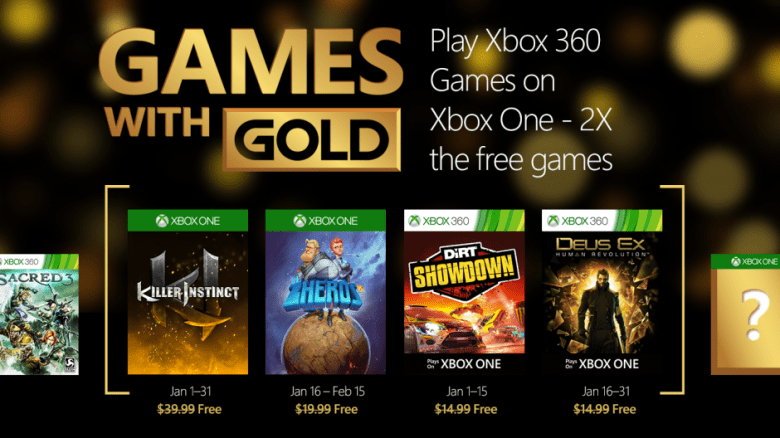 Xbox Live Games With Gold For January 2016