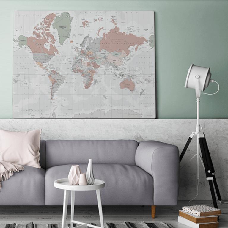 Historische wereldkaart zacht