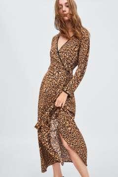 Zara Join Life luipaardjurk