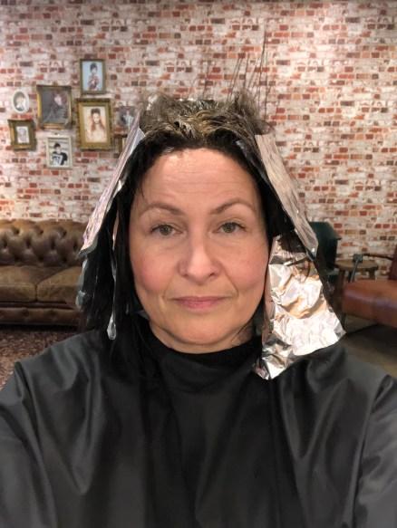 aluminiumfolie in m'n haar