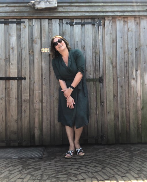 linnen jurk groen La Fée Maraboutée