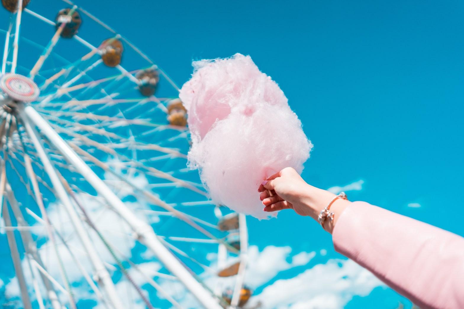 suikerspin reuzenrad roze