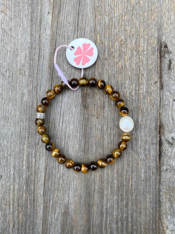 Pimps&Pearls armband natuursteen