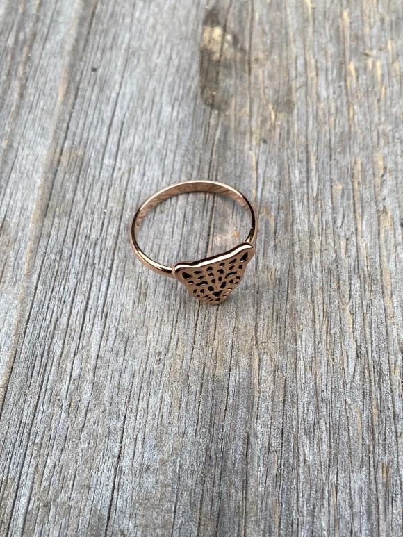 X by KA ring luipaard