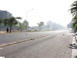 AV. Paseo Caroní luego de la represión, 22-02-2014.