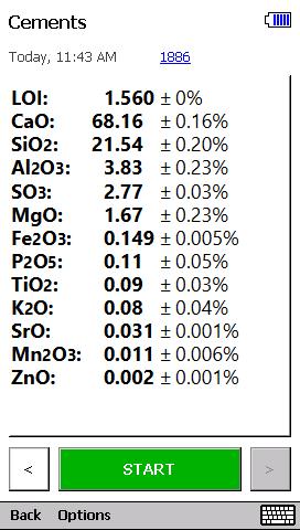 Cement analysis