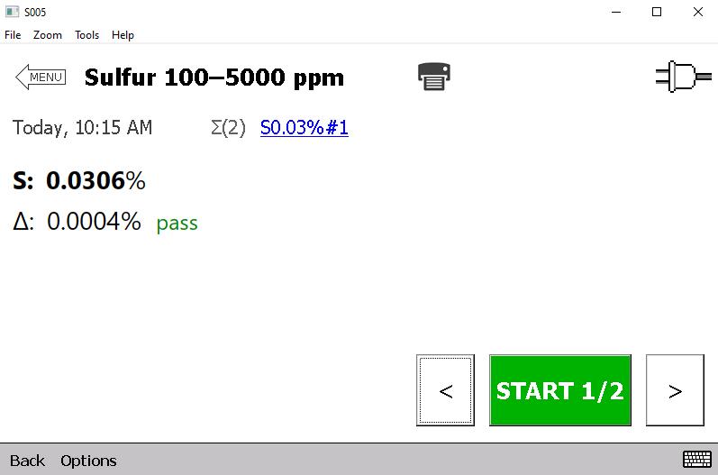 Sulfur analysis