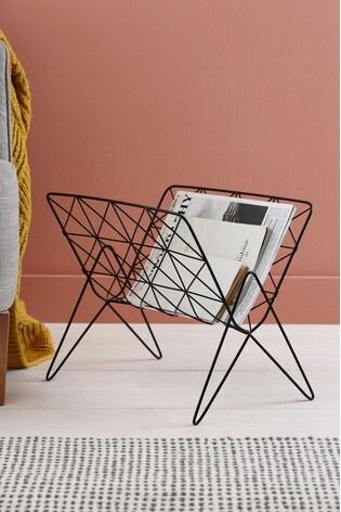 wire magazine rack