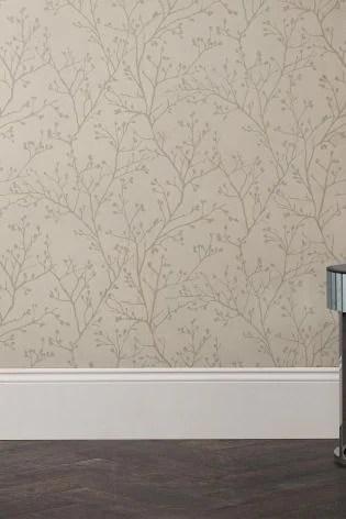 X Men Girls Wallpaper Buy Paste The Wall Metallic Sprig Wallpaper From The Next