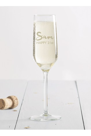 personalised champagne glass by