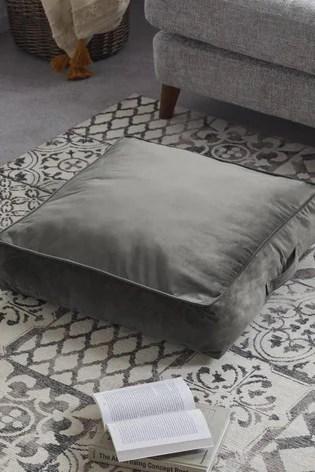 velvet floor cushion with handle
