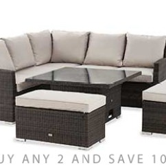 Palermo Rattan Effect Corner Sofa Set Cover Best Leather Brands In India Garden Sets Next Official Site Monaco Slim Living And Dining Table