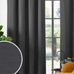 Red And Grey Living Room Curtains Bench Designs Eyelet Blackout Lined Next Cotton