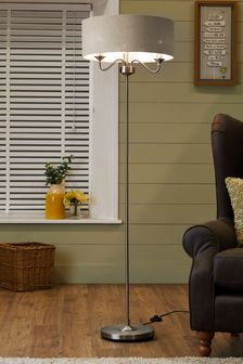 floor lamp living room beach themed chairs lamps tripod led lights next official site burford 3 light