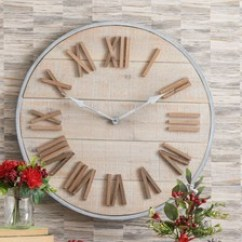 Living Room Clocks Next Gray White And Yellow Rooms Wall Mantle Official Site Salvage Clock