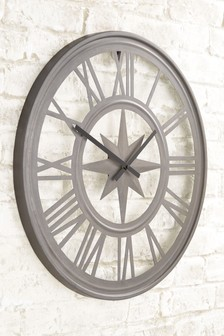 living room clocks next decorate black leather furniture wall mantle official site outdoor compass clock