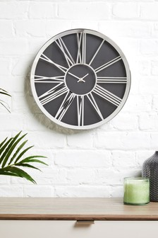 living room clocks next oak furniture land wall mantle official site roman numeral clock