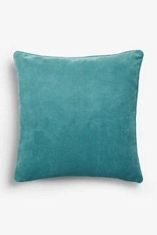 sofa pads uk modern furniture cushions scatter large next soft velour square cushion