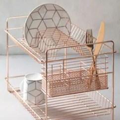 Gold Kitchen Pottery Barn Islands Accessories Next Uk 2 Tier Dish Drainer