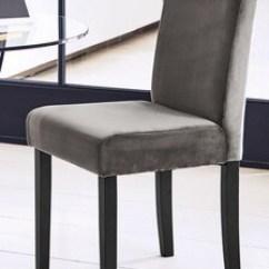 Grey Dining Chairs Chair Design Nigeria Leather Fabric Next Uk Set Of 2 Moda Iii