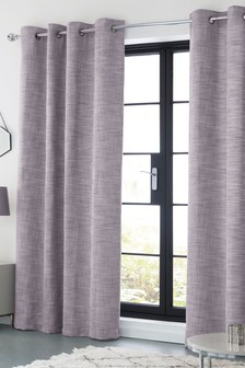 grey and purple living room curtains accent cabinets for plain patterned next uk tweedy twist eyelet