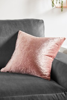 sequin chair covers uk high back white office cushions scatter sofa large next metallic velvet geo cushion