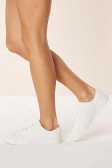 White Slip On Sneakers Womens
