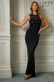 Black Prom Dresses Black Bardot Maxi Lace Prom Dresses Next