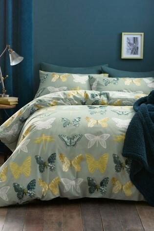 ornate butterfly printed duvet