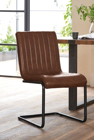 faux leather dining chairs barcelona lounge chair buy set of 2 bernie from the next uk