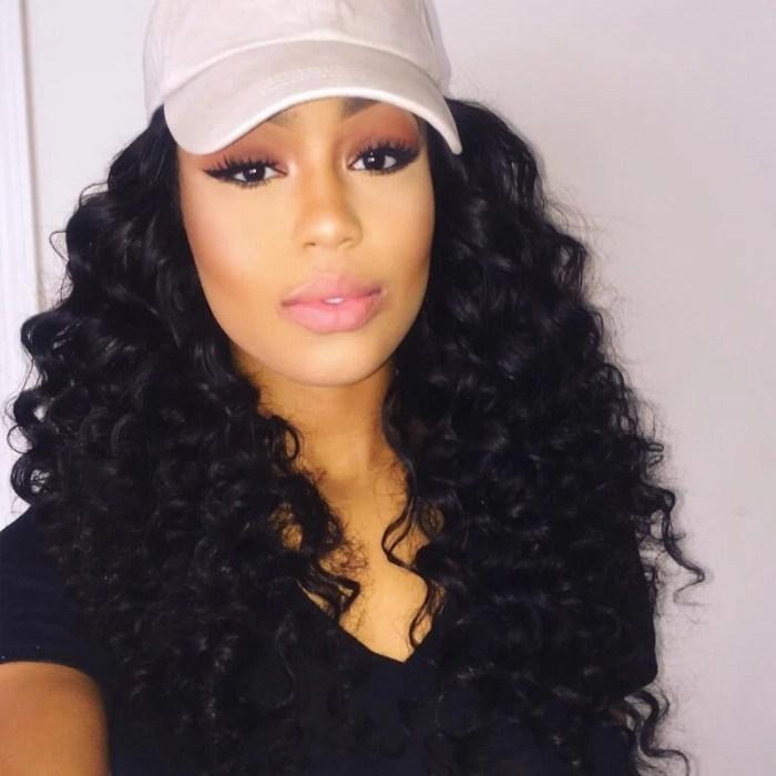 UNice 3 Bundles Virgin Deep Wave Human Hair With Lace
